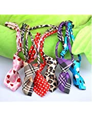 MUNCHOS Dog Collar Cat Teddy Pet Puppy Toy Grooming Bow Tie Necktie Clothes- 1 Piece Color and Print May Vary
