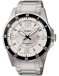 Casio - Montre - Homme - Quartz Analogique - Cadran en Bleu - Bracelet en Acier - Dateur