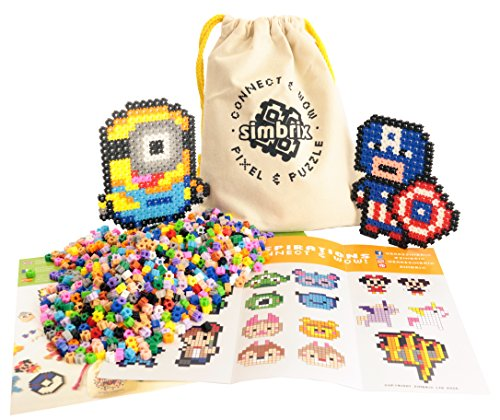 Preisvergleich Produktbild Award Winning Simbrix - Geek Kit For fans of Perler Beads & Lego -no pegboard or iron required