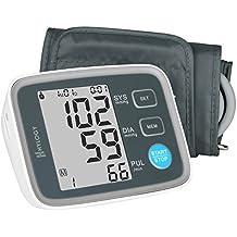 Hylogy Tensiómetro para el Brazo - Máquina de Tensión Arterial con Memoria y 2 Modos de Usuario - Esfigmoman Ómetro Digital que Mide Automáticamente el Pulso Diastólico y Sistólico