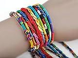 Bovake 50Pcs Wholesale SchmucksacheLos-Flechten-Strang-Freundschaft-Schnüre handgemachte Armbänder