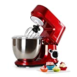 Klarstein Carina Rossa • Knetmaschine • Rührmaschine • Küchenmaschine • 800 Watt Leistung...