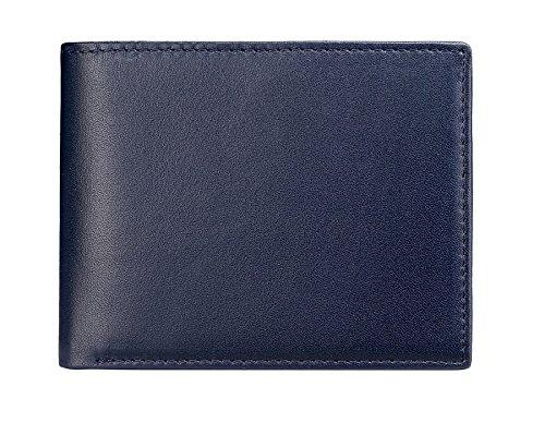 flintronic RFID-Blocker Schutz Geldbörse, RFID Brieftasche Echtem Leder, Herren Geldbörse, RFID Schutz Kreditkarten blau