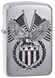 Zippo 60.002.330 Feuerzeug American Eagle Collection Spring 2016, Replica gebürstet Chrom
