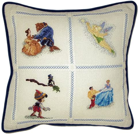 M C G Textiles 14 x 14-inch Disney Dreams Collection Counted Cross Stitch Pillow Kit