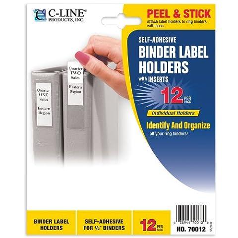 Self Adhesive Binder Labels, 1/2