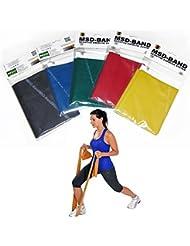 MSD–5cintas elásticas 1,5Mt Tutte le resistencias banda banda elástica ejercicio Fitness Pilates