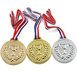 TRIXES Lot de 3 Médailles Or Argent Bronze Déguisement Podium Olympique
