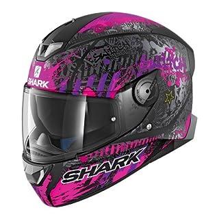 Shark Motorradhelm Hark Skwal 2 Switch Rider 2 Mat, Schwarz/Lila, Größe S