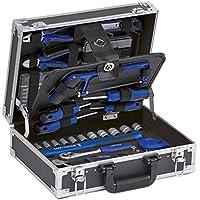 LUX-TOOLS WZK-96 Werkzeugkoffer, 96-teilig | Vielseitiges Werkzeug-Set für Heim- und Handwerker im praktischen Aluminium-Koffer inkl. Schraubendrehern, Zangen, Drehmomentschlüssel uvm.