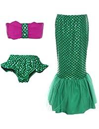 ReliBeauty – FilleMaillot de bain ensemble avec queue de sirène Princesse bikini set costume de cosplay