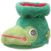 Acorn Easy Critter Kids Bootie Slipper,Frog,Toddler Small 0-6 Months