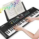 Clavier électronique de Piano 61, Clavier de Piano Portable Avec Pupitre, Microphone, Clavier de Piano Numérique de Musique d'alimentation Pour Enfants/Adulte