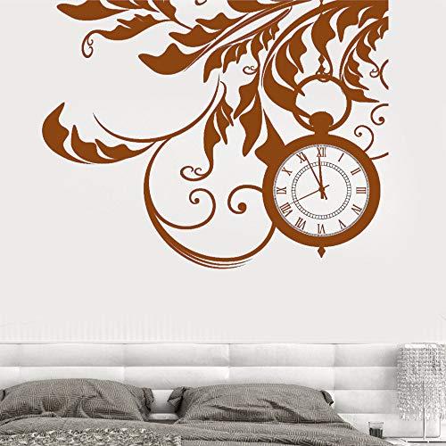 guijiumai Vinile Adesivo Floreale Orologio Floreale Sogni Fantasia Soggiorno Casa M Art Decorazione Adesivi F 6 57X71 CM