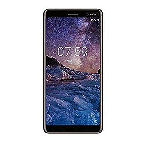 Nokia 7 Plus Dual SIM Smartphone - deutsche Ware (12+13MP Hauptkamera inkl. optischen Zoom, 16MP Frontkamera, 64GB interner Speicher, 4GB RAM, LTE, pure Android 8 Oreo, Schnellladefunktion, Fingerabdrucksensor, MP3 Player, NFC) inkl. Displayschutzfolie - schwarz/Kupfer