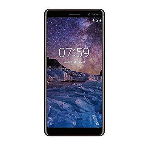 Nokia 7 Plus Smartphone (6 Zoll, 12+13MP Hauptkamera, optischer Zoom, 16MP Frontkamera, 64GB int Speicher, 4GB RAM, LTE, pure Android 8, NFC, Dual Sim, inkl. Displayschutzfolie) weiß/Kupfer