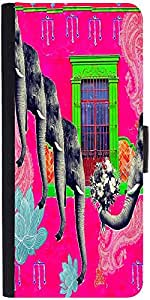 Snoogg Elephant Loverdesigner Protective Flip Case Cover For Samsung Galaxy E5
