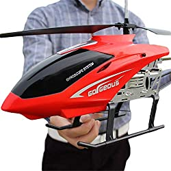 Zgifts Gran helicóptero de Control Remoto 3,5 Canal 80cm Longitud-Hobby RC Radio avión accidente de Juguete Resistencia para niños de Interior al Aire Libre Infantil Navidad