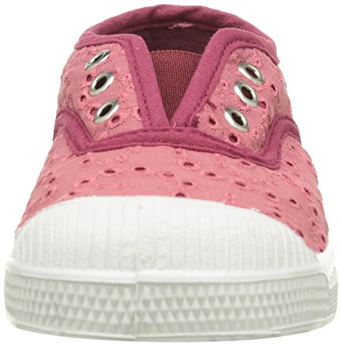 Bensimon Unisex-Kinder Elly Broderie Anglaise Sneaker Pink (410 Rose)