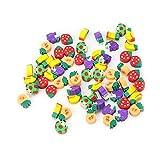 DDG EDMMS Frucht Radierstift Gummikappe nett abnehmbar Briefpapier Radiergummi Kinder Schulmaterial Neuheit spielt sortierte Farbe 50pcs