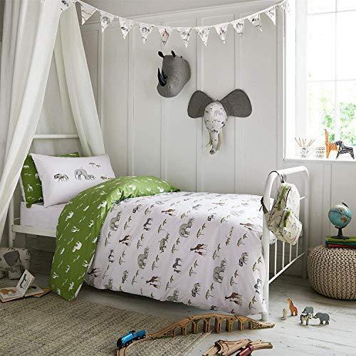 Sophie Allport auf Safari Grün Weiß Baumwollmischung Doppel Duvet Cover -