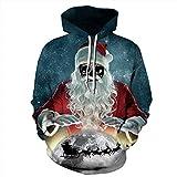 iHAZA Weihnachten Hoodie Sweatshirt 3D Printing Langarm Zur Seite Fahren Tops