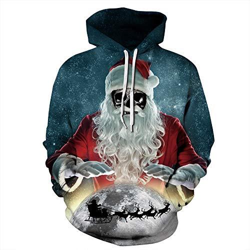 emp aufkleber MIRRAY Herren Damen Unisex Weihnachten Pullover Elch Santa Schneemann 3D Gedruckt Lange Ärmel Hoodie Sweatshirt