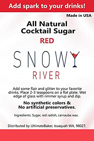 Snowy River Cocktail Sucre–226,8gram 8oz Red