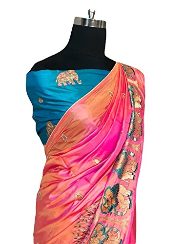 Saree For Women's (cotton silk_desaigner_partywear_traditionalwear sarees for girls/wonen/women's)