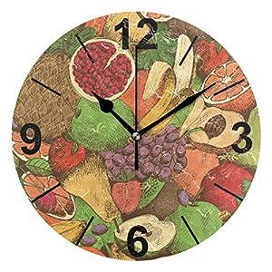 Janhe Reloj de Pared Redondo