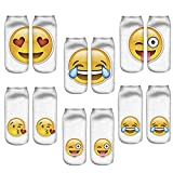 LegendsChan - Calcetines - para mujer multicolor Emoji 6 pack-A