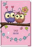 Schülerkalender Eulen/Owls 2018/2019 - Schulplaner, Schülerplaner: Timer mit Hardcover und Stickern für Stundenplanwechsel