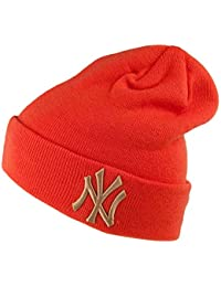 544dc120640cd A NEW ERA Gorro Beanie York Yankees Tejido League Essential Naranja
