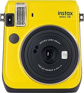 Fujifilm Instax Mini 70 Canary Yellow Fotocamera Istantanea per Stampe Formato 62x46 mm, Giallo