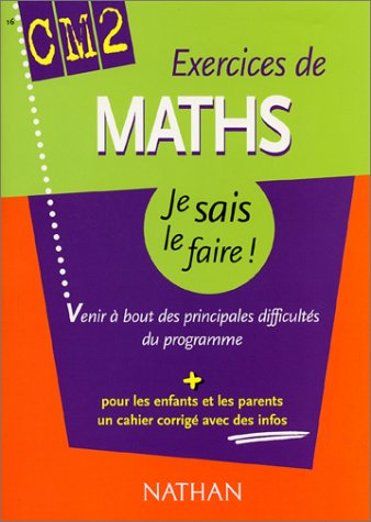 Exercices de Maths CM2 (+ corrigé)