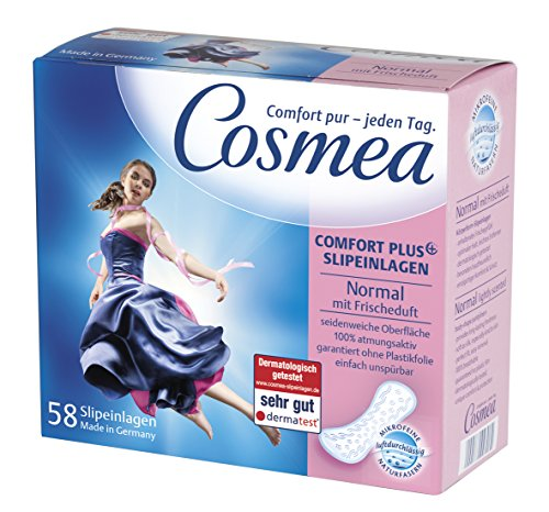 Cosmea Slipeinlagen, Normal mit Frischeduft, 10er Pack (10 x 58 Stück)