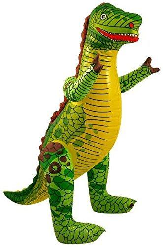 Aufblasbare Dinosaurier, 76cm., grün, 4-Pack