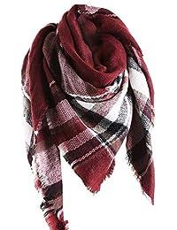 e2d41433573 Amazon.fr   Rouge - Echarpes   Echarpes et foulards   Vêtements