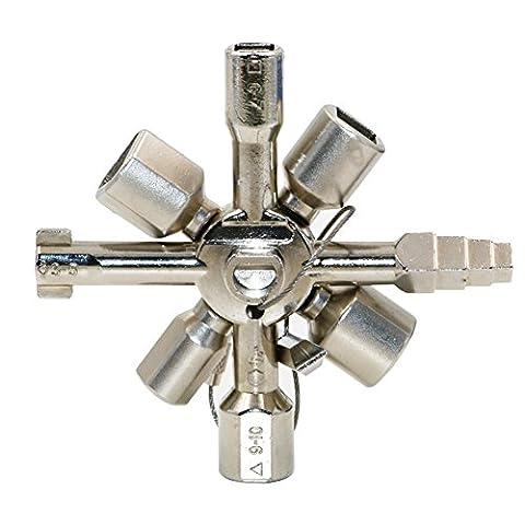 Lugii Cube pratique 10en 1multifonctionnel Clé en croix Clé carrée Triangle Clé pour train électrique ascenseur Cabinet Valve