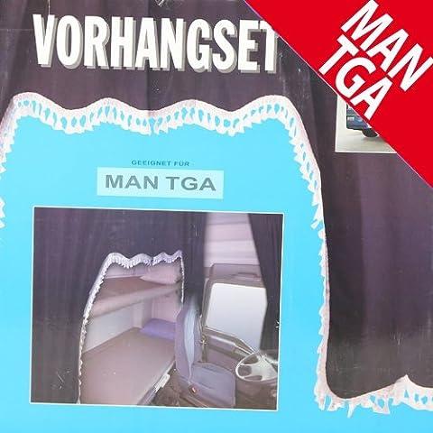Camiones cortinas Juego Negro/Weiãÿ 5tlg. Man/TGA Decoración Interior