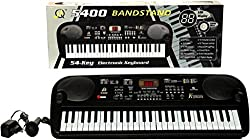 A M Enterprises Electronic 54 Keys Paino with Microphone and LED Screen