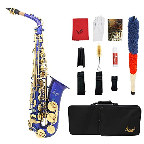 ammoon gravierte Eb EB Alt-Saxophon Sax Abalone Shell Tasten Blechblasinstrument mit RS Handschuhe Tuch Fett Gürtel Reinigungsbürste