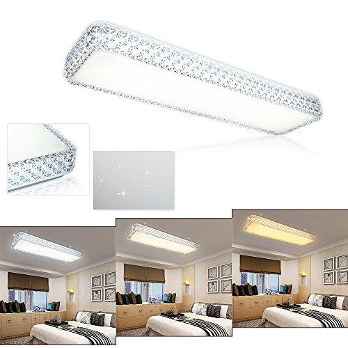 VGO® 30W LED Kristall Deckenleuchte 3in1 Starlight Effekt Korridor Wand-Deckenleuchte Mordern Eckig Wandlampe Badezimmer geeignet