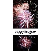 Kalender zum Selberdrucken – Happy New Year 2018: Sonder-Hochformat-Kalender mit deutschen Feiertagen - Familienplaner
