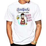 Camiseta Espartanos cual es vuestro Oficio, Beber. Camiseta Divertida para Despedidas Solteros, Feria, Fiestas, botellon, Grupos de Amigos. (M)