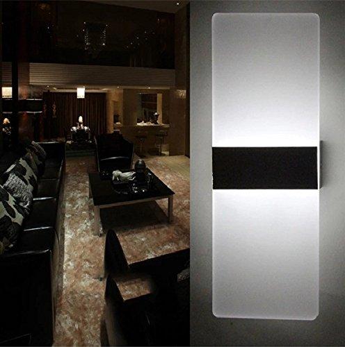 Topmo 12w lampada da parete a led applique ideale per - Applique led per camera da letto ...