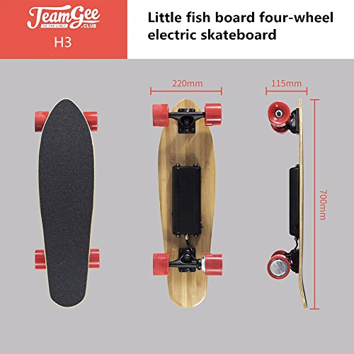 Teamgee H3eléctrico Longboard monopatín motorizado con mando a distancia por Teamgee, adaptador de Reino Unido