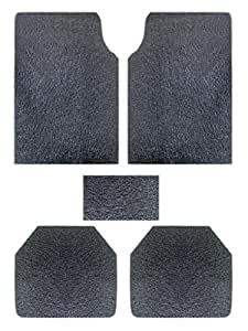 Vheelocityin 73983 Premium Black Noodle Car Foot Mat for Maruti Swift (Set of 5)