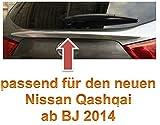 Zubehör für Nissan Qashqai 2014 2015 2016 Modell J11 EXKLUSIVE CHROM TUNING HECKKLAPPE LEISTE ZUBEHÖRTEILE