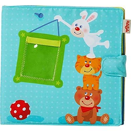HABA 303143 – Baby-Fotoalbum Spielgefährten2 | Album aus Stoff mit 10 Seiten | Einstecktaschen für 8 Fotos im Format 10 x 15 cm | Ab 12 Monaten
